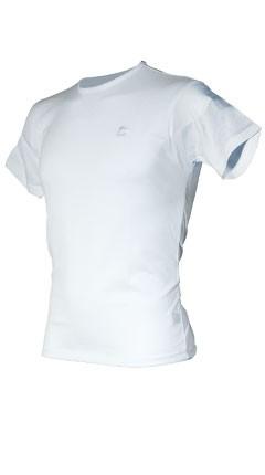 Raku Shirt T/C Rundhals Weiss