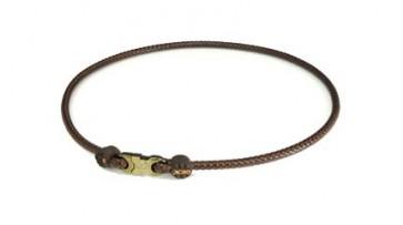 X30 Rakuwa Halskette High End Leather Touch (50cm) Braun