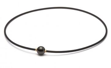 X100 Halskette  Mirror Ball Schwarz/Gold