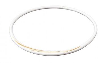 PHITEN HALSKETTE  S_SLASH LINE,  Weiss/Gold_
