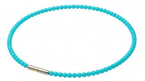 METAX Halskette Crystal Touch Türkisblau (45cm)