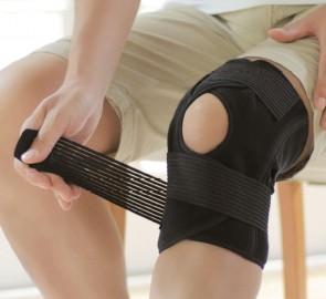 DayFit Knie Bandage Verstellbar Schwarz
