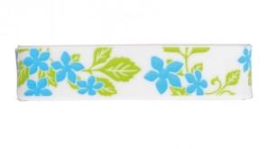 Sport  Armband S-Blumen,  Weiss / Blau, 15 cm