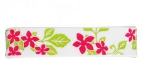 Sport  Armband S-Blumen,  Weiss / Pink, 15 cm