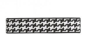 Sport  Armband S-Gitter,  Schwarz / Weiss, 17 cm