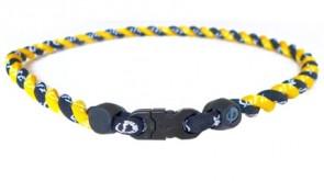 GS_Tornado Halskette Gelb/Schwarz 55 cm