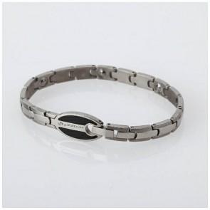 Titan Armband Hard coat Oval schwarz