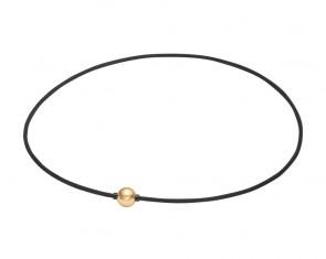 Extreme METAX Halskette Mirror Ball Light Schwarz/Gold