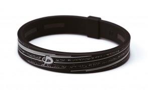 Armband_ S_SLASH LINE_ Schwarz/Grau_1