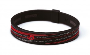 Armband_ S_SLASH LINE_ Schwarz/Rot_1