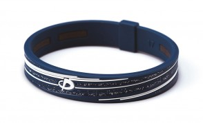 Armband_ S_SLASH LINE_ Navy/Weiss_1