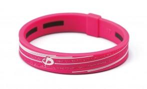 Armband_ S_SLASH LINE_ Pink/Weiss_1