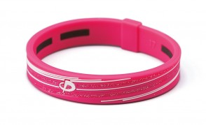 Armband_ S_SLASH LINE_ Pink/Weiss_1