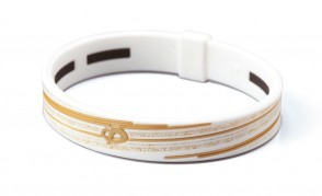 Armband_ S_SLASH LINE_ Weiss/Gold_1