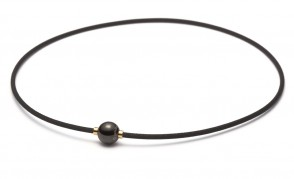 Collier X100 Mirror Ball noir/doré 45cm