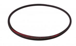PHITEN COLLIER S_SLASH LINE,  Noir/Rouge_