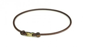 X30 Collana High End Leather Touch (50cm) Marrone