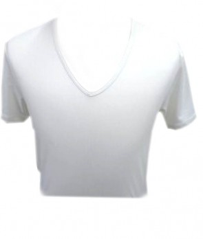 T-Shirt T/C Collo V-Neck L Bianco