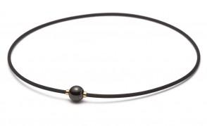 Collana «X100 Mirror Ball», 45 cm, nero/oro
